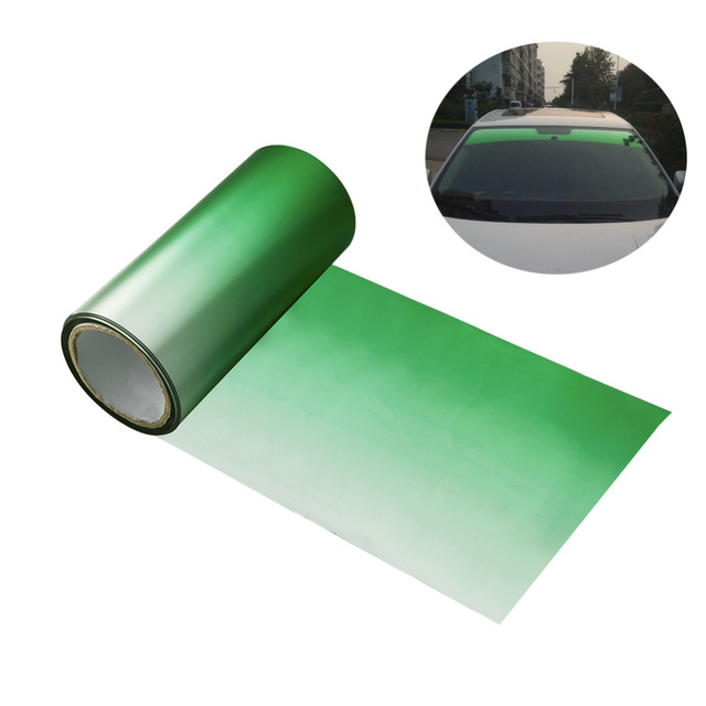 150cm Sun Shade Front Windshield Tinted Film Gradient Green Front Window Solar Protection