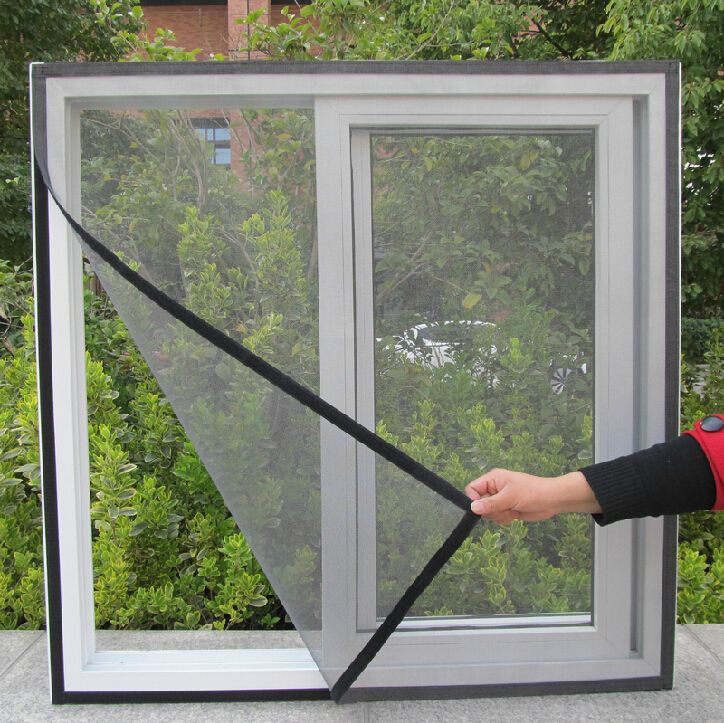 CUSTOMIZED different sizes colors anti Insect Fly Bug Mosquito Door Window Net Mesh velcro Screen Curtain & Compare Prices on Velcro Door Screen- Online Shopping/Buy Low ... Pezcame.Com