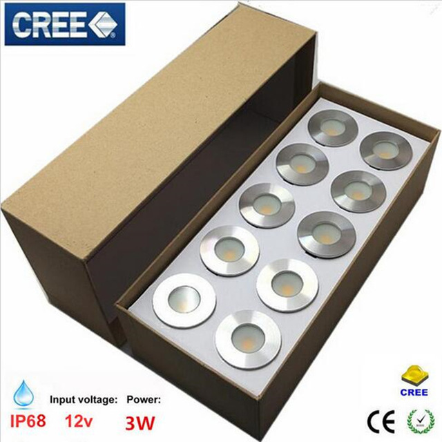 10x Dhl Ip67 Spotlight Outdoor 3w Led Step Stairs Recessed Wall Light Led Step Lamp Waterproof Led Footlight Underground Factories And Mines Led Lamps