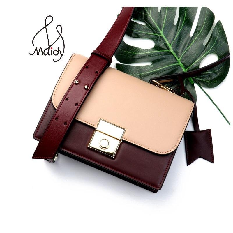 Maidy Fashion Women Ladies Hard Genuine Cow Split Leather Panelled Flap Messenger Bags Shoulder Handbag Hasp Lock Tassel Wallet стоимость