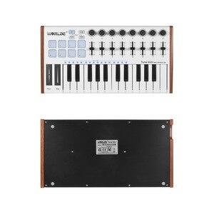 Image 3 - WORLDE TUNA MINI MIDI Keyboard Ultra Portable 25 Key USB MIDI Keyboard Controller 8 RGB Backlit Trigger Pads with 6.35mm Jack