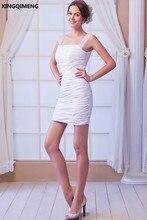 Blanco Sexy Mini Vaina Vestidos de Cóctel Corto Elegante Vestido de Cóctel Rebordear Sobre La Rodilla Party Girls Vestidos Vestido de Verano de Las Mujeres