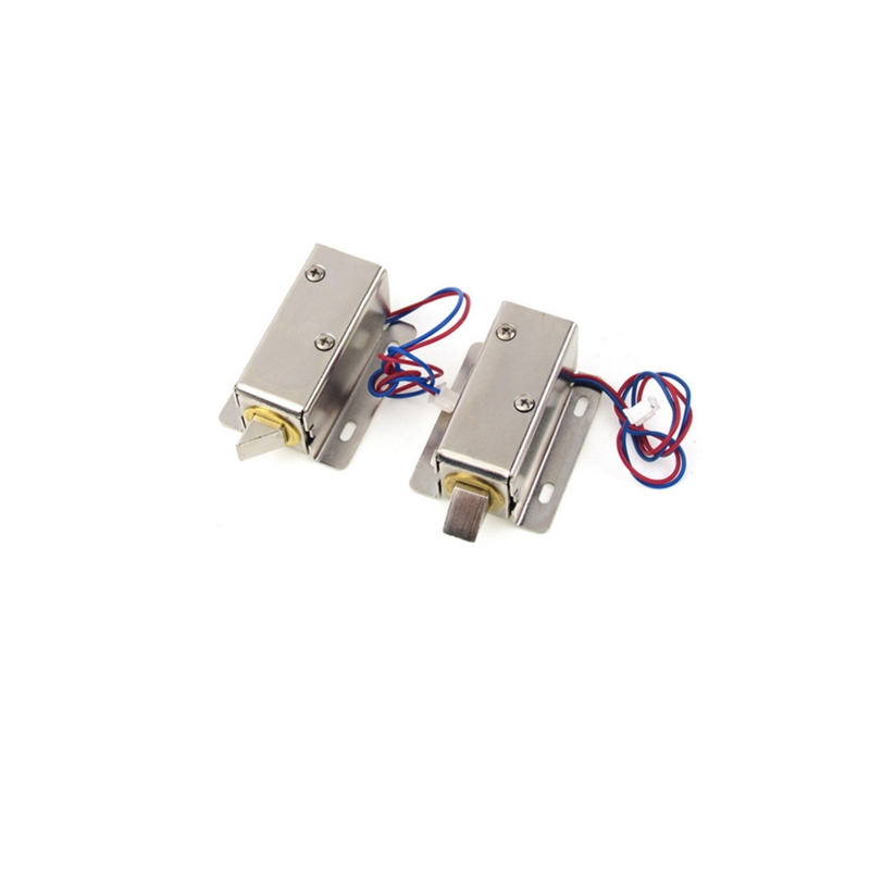 Electronic door lock12V / 24V small electric locks cabinet locks drawer small electric lock rfid access control gold plated rca male phono plugs audio video solder connector