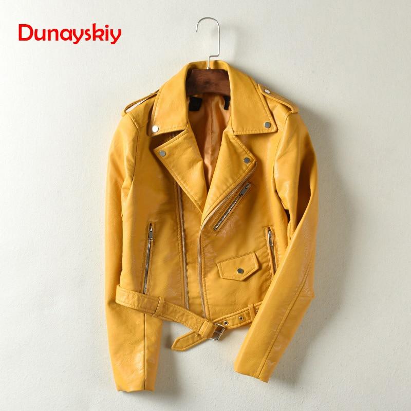 Dunayskiy Women Autumn Winter Clothes Leather Jackets Soft Pu Faux Leather Coat Slim Short Design Streetwear Plus Size Outerwear 1