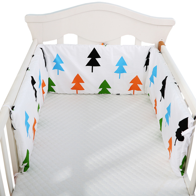 1pc One-piece Baby Bed Bumper In the Crib Double-sided Cot Bumper Baby Head Protector Crib Bumper Newborns Baby Bedding,180*28cm