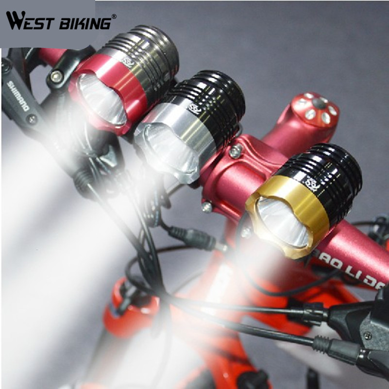 WEST BIKING Bicycle Light  T6 Front  Lights 200m Range +USB Interface +holder box+ LED T6 Bicycle Light Bike Lamp Cycling  Light туфли nine west nwomaja 2015 1590