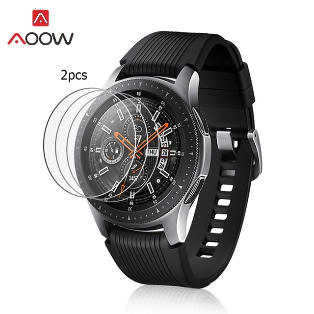 AOOW 2pcs Tempered Glass For Samsung Galaxy Watch 42mm 46mm Screen Protector Protective Film Guard Anti Explosion Anti-shatter