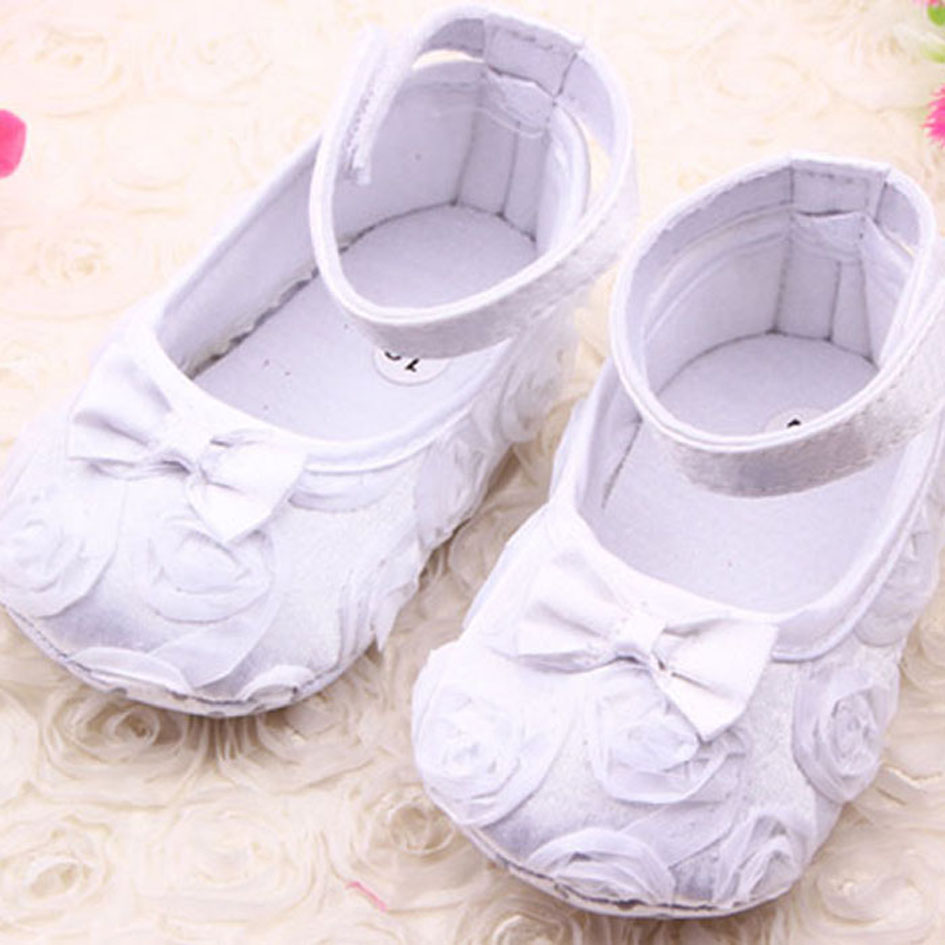 b043581f30f Buy Fashion Rose Flowers Baby Girl Crib Shoes Cute Bow Tie Newborn ...