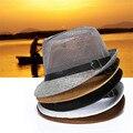 Chapéu de chapéu masculino cap chapéu de verão strawhat anti uv chapéu de verão respirável sunbonnet casuais