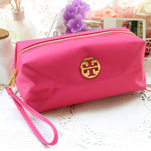 2016 New Fshion  Women Nylon Candy Color Cosmetic Bag Large Waterproof Oxford Fabric Storage Day Clutch Evening Bags  #A9-4-02