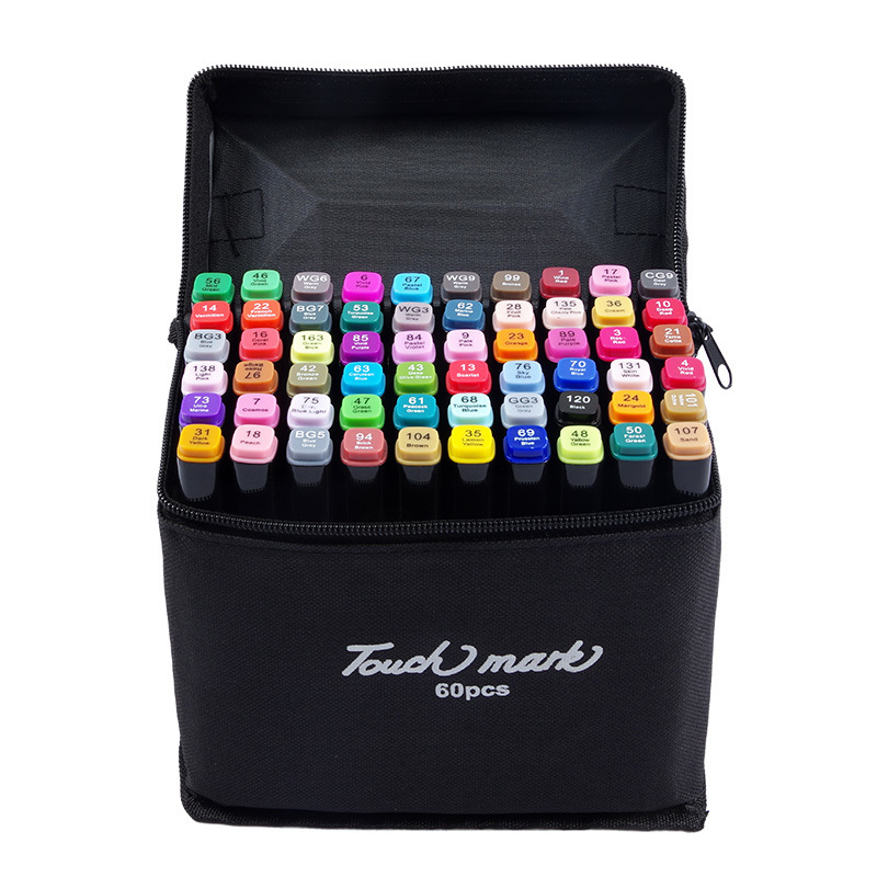 Touch marker 30/40/60/80/168Colors Art Markers Set Alcohol Oily Base Sketch Markers Pen For Drawing Animation Manga Supplies touchnew 36 48 60 72 168colors dual head art markers alcohol based sketch marker pen for drawing manga design supplies