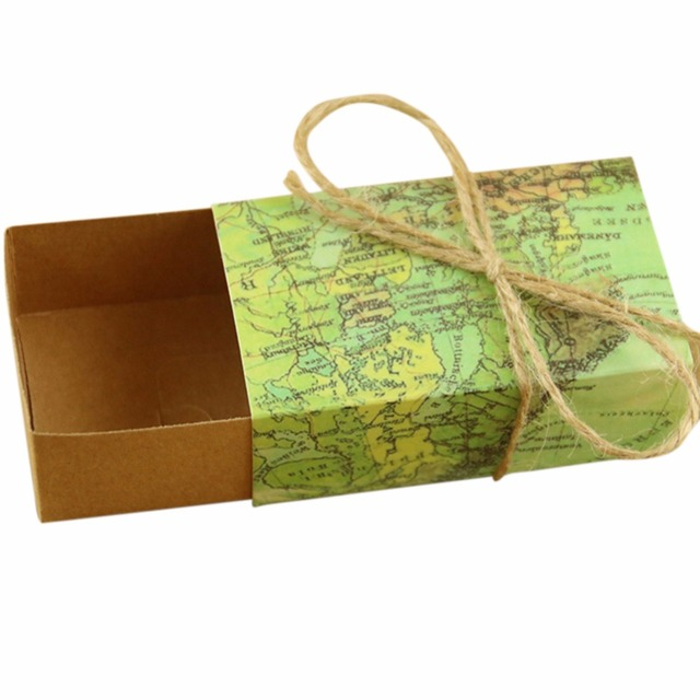 50pcslot vintage wedding candy box kraft paper world map gift bag 50pcslot vintage wedding candy box kraft paper world map gift bag for wedding favors gumiabroncs Image collections