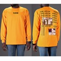 Fashion 2017 Autumn t shirt men Casual The Life Of PABLO kanye kobe yellow long sleeve hip hop tshirt