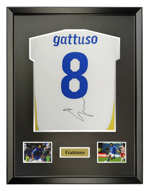 gattuso signed autographed soccer shirt jersey come with Sa coa ...