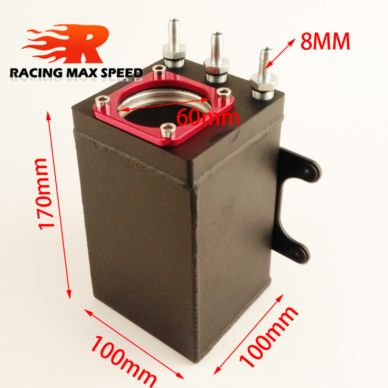 new product 60mm single port size racing black Billet aluminium oil catch can,fuel surge tank OCT1115