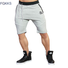 FGKKS 2017 New Summer High Quality Men Casual Brand Gyms Shorts Men Fashion Fitness Professional Bodybuilding Gasp Shorts Male