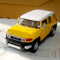 Brand New 1/36 Scale Toyota FJ Cruiser Yellow Diecast Metal Pull Back Car Model Toy For Children/Kids/Gift -Free Shipping