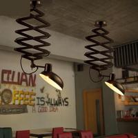 Salon Siyah süspansiyon yukarı & aşağı Lamba Restoran Antik esnek kolye Işıkları Lamparas Depo Endüstriyel cafe Işık E27