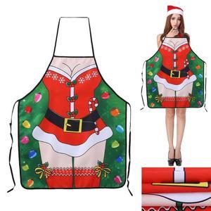Image 5 - عيد الميلاد مآزر المطبخ للمرأة ديكور عيد الميلاد مآزر للكبار النساء الرجال عشاء حفلة مريلة مطبخ اكسسوارات الخبز