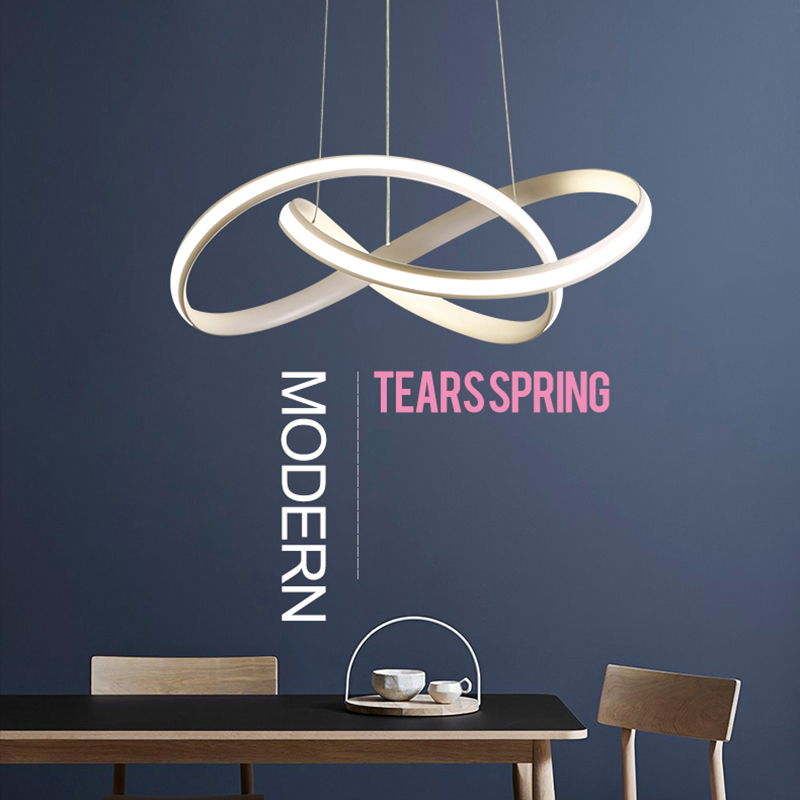 Modern simple 3 leafs LED dimmable with controller pendant light parlor study bedroom 50cm 70cm living
