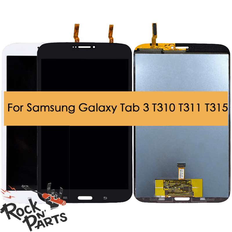 for <font><b>Samsung</b></font> Galaxy Tab 3 <font><b>LCD</b></font> Display Touch Screen Digitizer Assembly Replacement for T310 <font><b>T311</b></font> T315 image