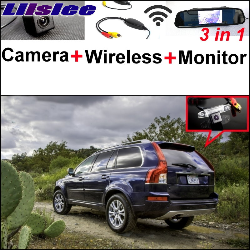 Liislee For Volvo XC90 3 in1 Special Rear View Wifi Camera + Wireless Receiver + Mirror Monitor Easy DIY Parking System liislee for renault samsung qm5 3 in1 special rear view camera wireless receiver mirror monitor easy back parking system