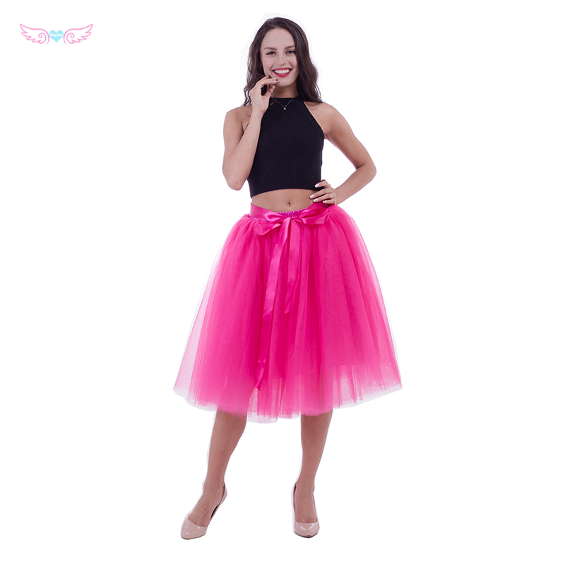 753a503c1 hot pink Tulle Skirt Tutu girls Custom Layered Bridesmaid skirt Tulle Midi  skirt-in Skirts from Mother & Kids on Aliexpress.com | Alibaba Group