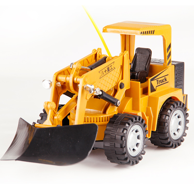 2.4G 5CH RC Bulldozer Truck Excavator Toy Remote Control Engineering Forklift Dump Truck Model Vehicle Excavator Kid Boy Gift children s electric educational remote control excavator model 2 4g remote control rc construction vehicle engineering truck toy