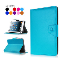 PU Leather-based Stand Cowl Case For DNS AirTab M74 M76 7 inch Common Pill PC Protecting Covers+Free Stylus+Middle Movie