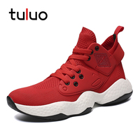 Mens Outdoor Jogging Sneakers Slip on High Top Outdoor Walking Men Casual Shoes Fitness Breathable Male Footwear Plus Size39 48