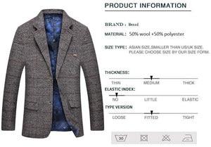 Image 4 - Mwxsd men casual woolen Suit Blazer jacket Mens Slim fit Suits Casual male blazer Suit Jacket blazer masculino homme