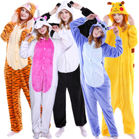 Pink Winter Unicorn Pajamas Full Sleeve Cartoon Adult Unisex Onesie Hooded Cute Sleepwear Animal Pyjama Festival