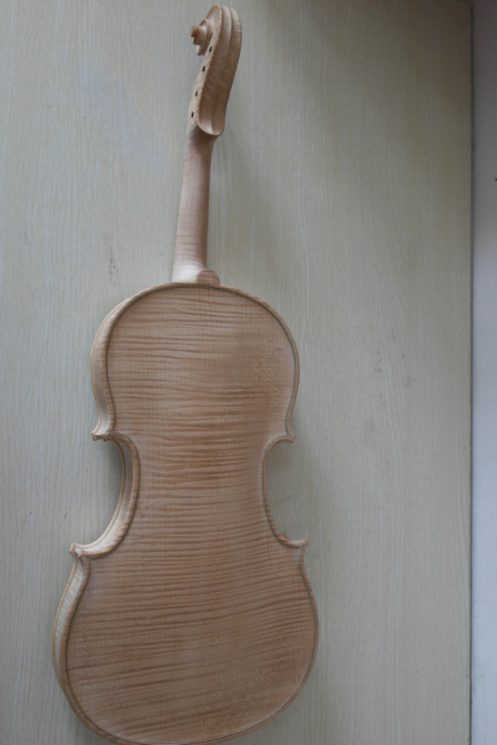 Unfinshed Flamed Maple Flamed Wood Back White 4/4 Violin Europen Wood Spruce Top Wood one 4 string 4 4 violin electric violin acoustic violin maple wood spruce wood big jack green color