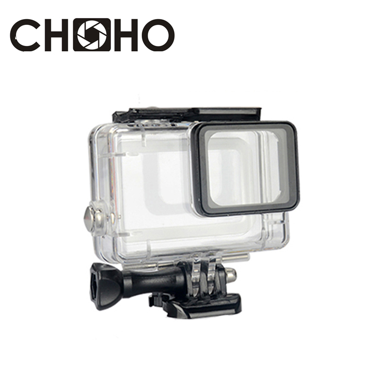 Waterproof Housing Case Diving 45M Protective + Lone Screw + Base Mount For Go Pro Hero 5 6 7 Black Accessories