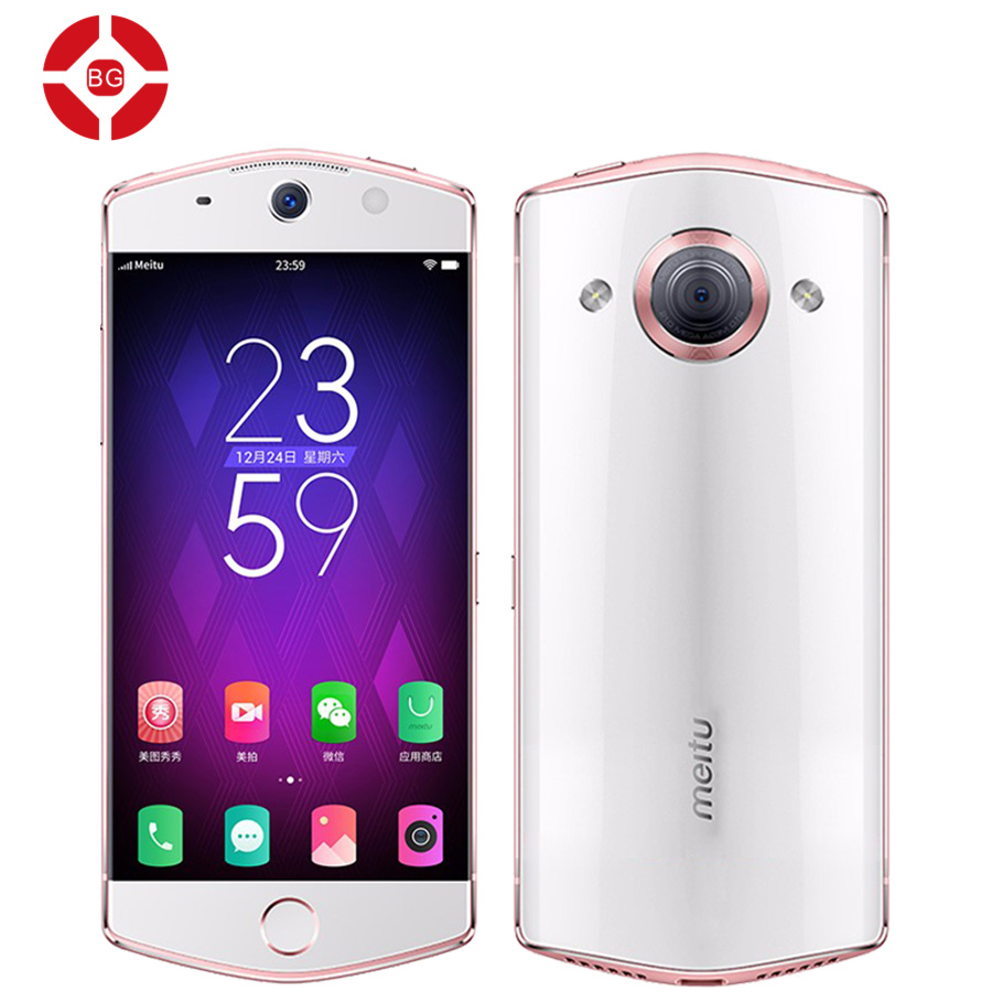 BG Original Meitu M6S 4G RAM 64GB ROM 5.0 inch Android 6.0 Smartphone MT6755 Octa Core 2.0 GHz 4G LTE 21MP Camera 2900mAh