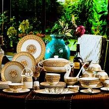 European Luxury Bone China Tableware Set Home High-end Western Personalized Creative Wedding Wedding Gift Dinnerware