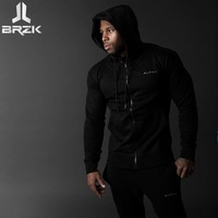2017 Autumn Newest Fitness Men Gyms Hoodies Sweatshirt Bodybuilding Hoody Zipper Casual Sweatshirt Men S Slim