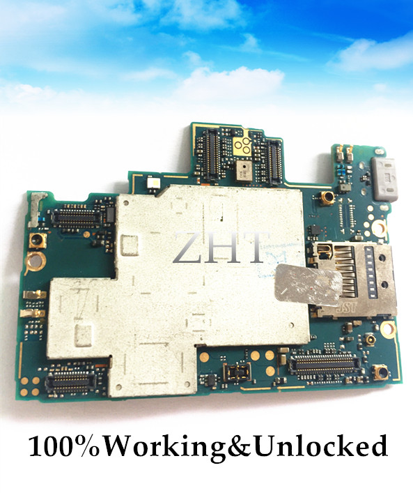 Unlocked European version Original Motherboard For XPERIA Z L36H C6602/C6603 Motherboard Logic Board Free shipping switch international language european original google motherboard for galaxy note 3 n900 motherboard 32gb clean imei switch