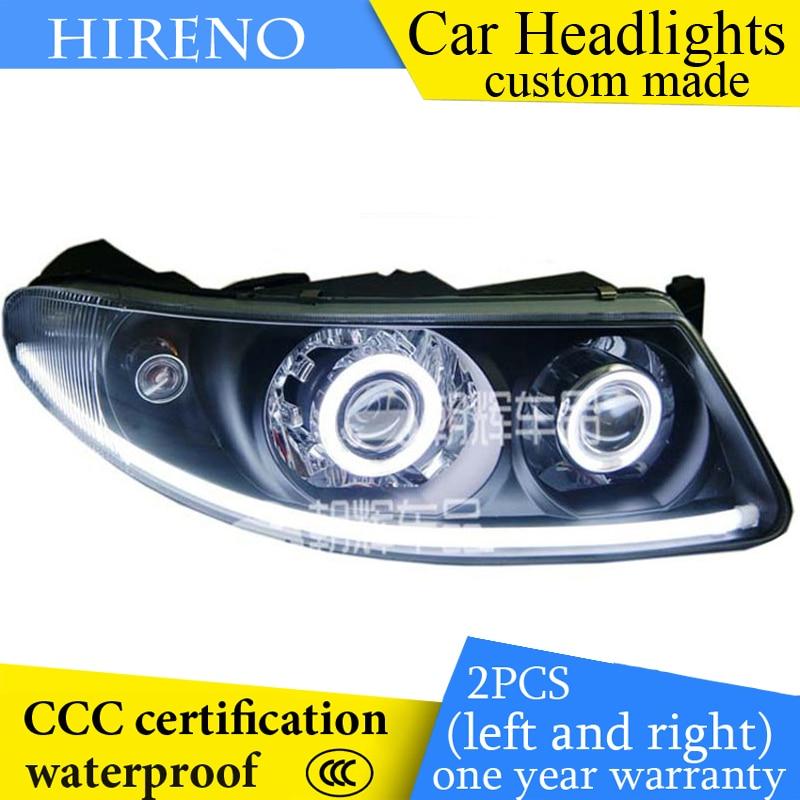 Hireno custom Modified Headlamp for Buick Regal Opel Insignia 2003-08 Headlight Assembly Angel Lens Beam HID Xenon 2 pcs