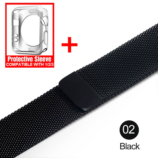 Milanese Loop For Apple Watch band strap 42mm/38mm iwatch4/3/2/1Stainless Steel Link Bracelet wrist watchband magnetic buckle 2