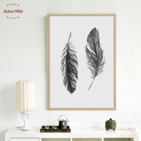 Watercolor Black Feather Canvas Art Print Poster Wall Pictures For Home Decoration Giclee Wall Decor S16053