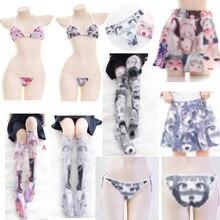 Ahegao Ahe Bikini Sexy Women Lingerie Set Cute Loli pants socks thighhighs pBriefs Bra T-back G-stri