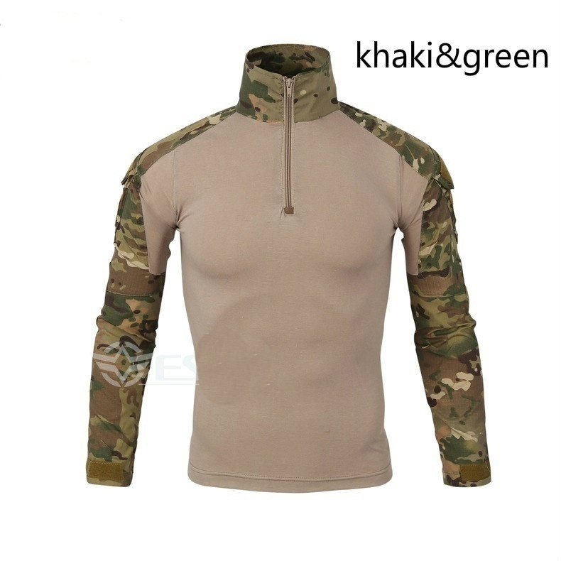 ZOGAA Camouflage tactical T shirt Military style long sleeve t shirt men 7 camouflage colors Tactical t shirt Size plus S 3XL in T Shirts from Men 39 s Clothing