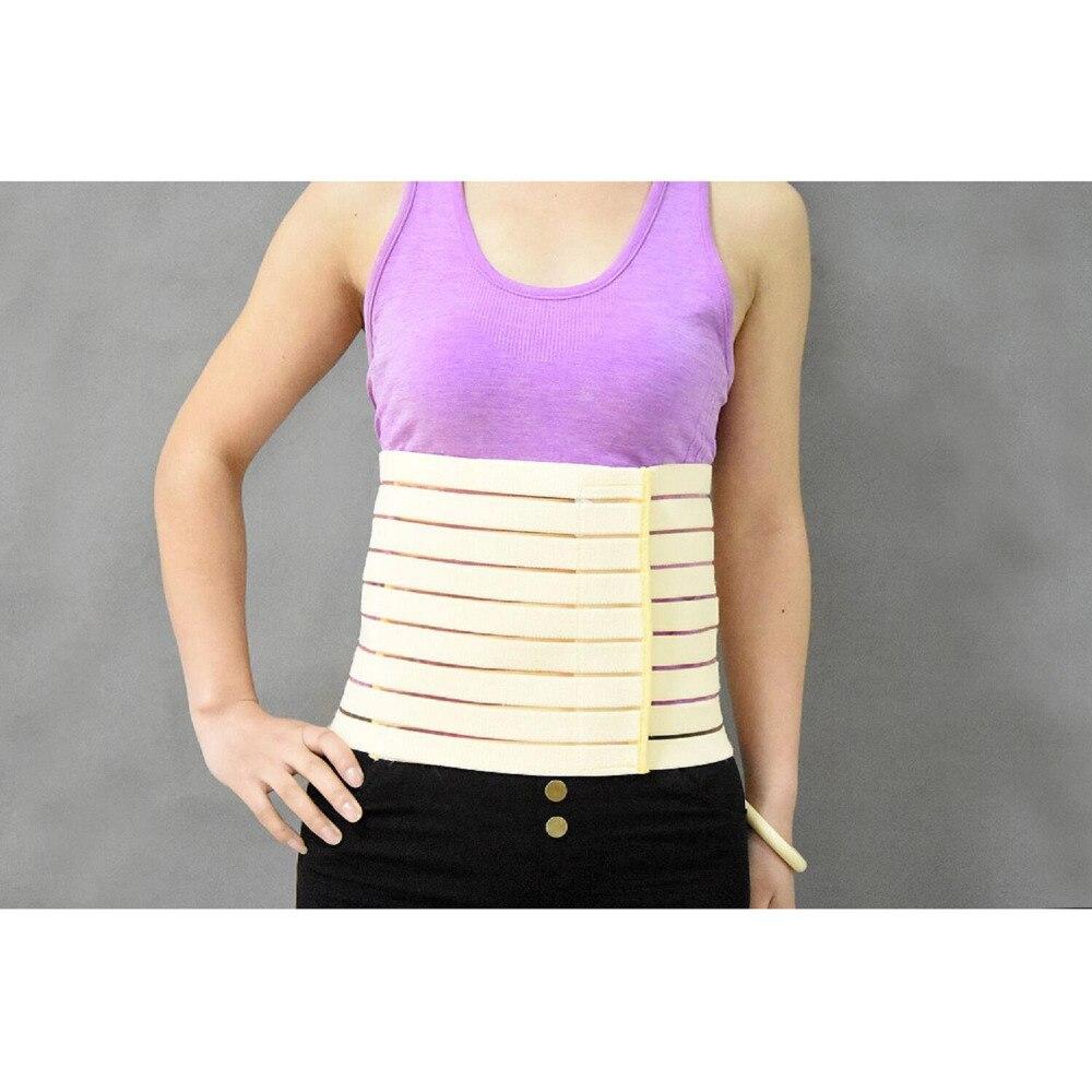 Abdominal Binder Lower Back Support Belt Compression Wrap for Men And Women Medium