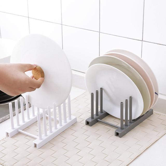 Organizador de cocina olla tapa estante Acero inoxidable cuchara soporte olla tapa estante cocina plato tapa soporte accesorios de cocina
