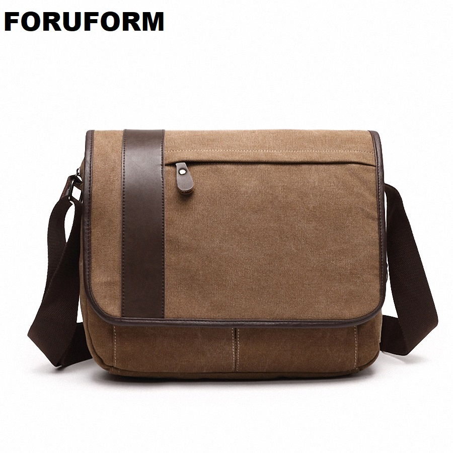 2018 New Man Shoulder Bag Men Canvas School Messenger Bags Casual Travel Military Bag Fashion Men Business Crossbody Bag LI-2067 augur 2017 canvas leather crossbody bag men military army vintage messenger bags shoulder bag casual travel school bags