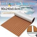 Eva-schaum Teak deck Braun + Weiß Streifen Selbstklebende blatt Boot Yacht Synthetische Decking Schaum Bodenmatte Starke 3 Mt Gule