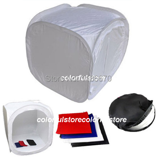 80 x 80 x 80 cm 32 Collapsible Photo Photography Studio Light Lighting Tent Soft Box Softbox for DSLR Camera Film + 4 Backdrops 4 55w color soft lights lamp stage lighting film and television studio