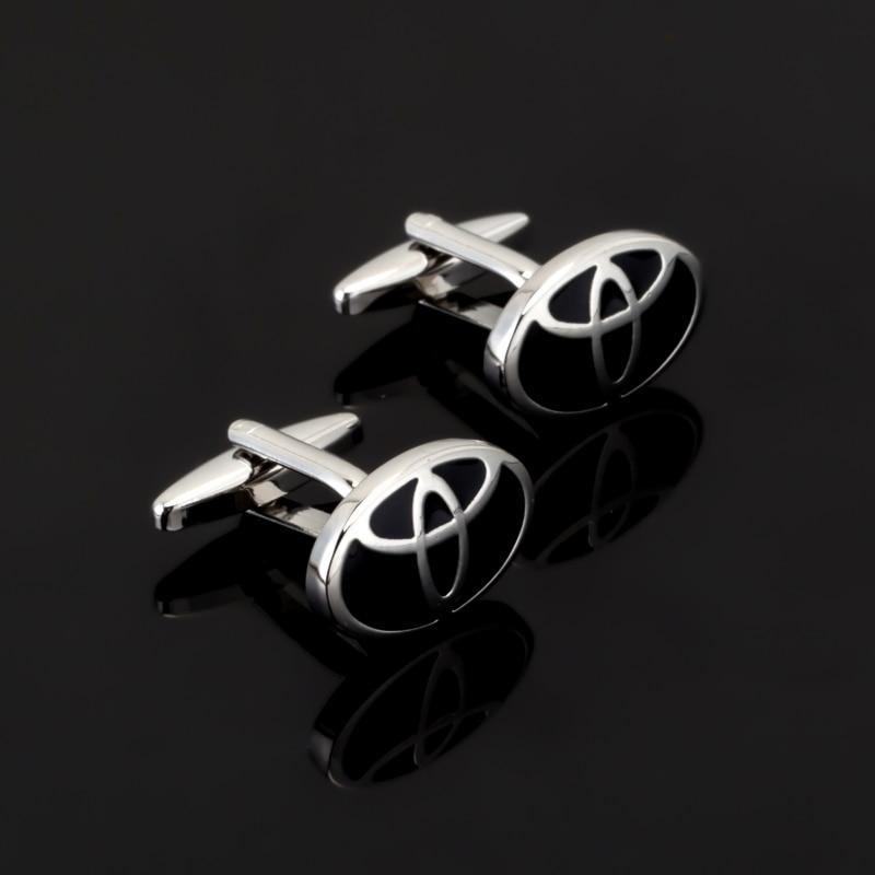 Luxury Jewelry car logo black enamel Cufflinks Brand Christmas Gift Cuff Links For Men French shirt Cuff Cufflink gemelos