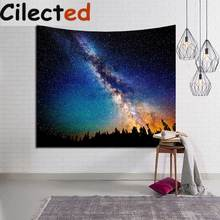 Cilected Galaxy Starry Night Wall Hanging Tapestry Indian Hippie Retro Lamp  Mandala Tapestries Home Decor Beach